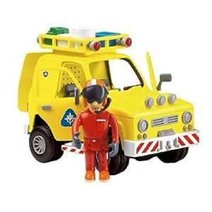 sam le pompier grand mod le de la voiture de secours 4 4 jaune figurine articul e de sam le. Black Bedroom Furniture Sets. Home Design Ideas