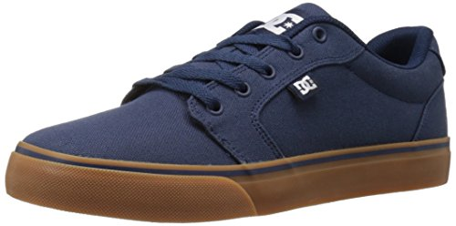 DC Men's Anvil TX Skate Shoe, Navy/Gum, 10.5 M US
