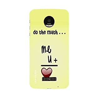 iSweven MotoZ_1115 Printed high Quality love_me Design Back case cover for Motorola Moto Z