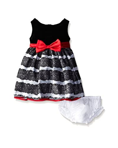 Nannette Kid's Flocked Sateen Dress Set