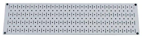 Wall Control Narrow Pegboard Rack 8In X 32In Gray Metal Pegboard Runner Tool Board