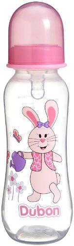 Bebe Dubon Feeding Bottle with Variable Flow Nipple, 9 Ounce, Colors May Vary