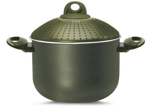 Pensofal 07PEN8727 Terre di Siena Bio-Ceramix Nonstick Family PastaSi Pasta Cooker with Lid, 5-Quart