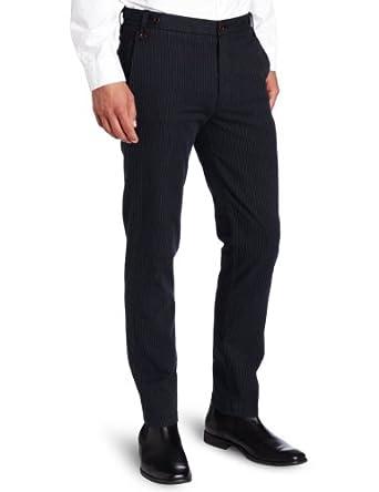 Dockers Men's Extra Slim Stripe Pant, Cotton/Navy, 29x32