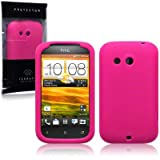 HTC Desire C Silicone Skin Case / Cover / Shell - Hot Pinkby TERRAPIN