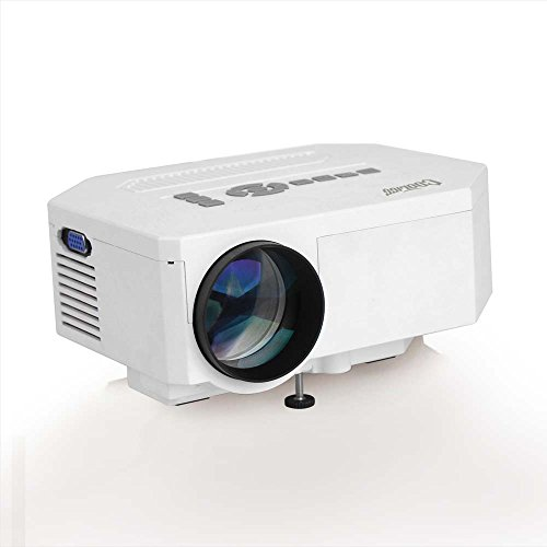 Cooligg Portable Mini Home Theater Multimedia Led Projector 150 Lux 640*480 Native Resolution Support 1080P