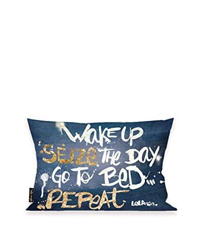 Oliver Gal Seize It Denim Lumbar Pillow, Multi