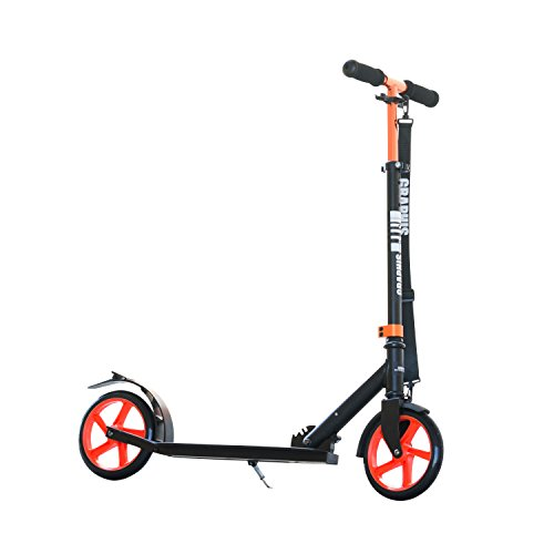 GRAPHIS (Graphis) collapsible scooters 205 mm big wheel color / black × orange GR-K