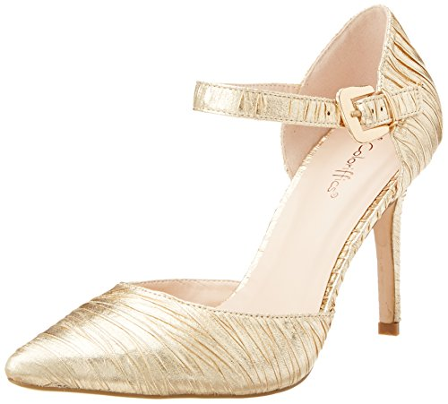 Coloriffics Women's Elana Dress Pump,Gold,9.5