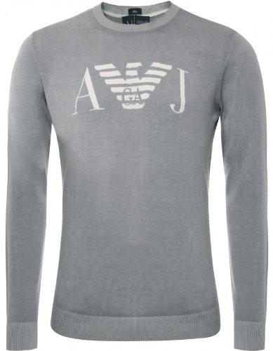Armani Jeans Men's Sweater Grey Crew Neck Sweatshirt M