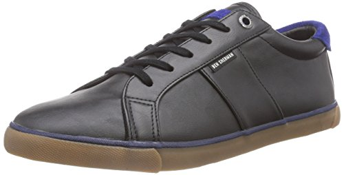 Ben Sherman TENI Lace to Toe, Low-Top Sneaker uomo, Nero (Nero (nero)), 44