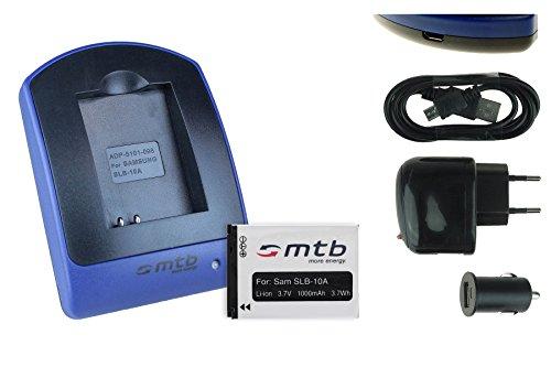 mtb more energy Akku + Ladegerät (Netz+Kfz+USB) für JVC Adixxion / Toshiba X-Sports / Silvercrest / Medion Action Cams ..s. Liste