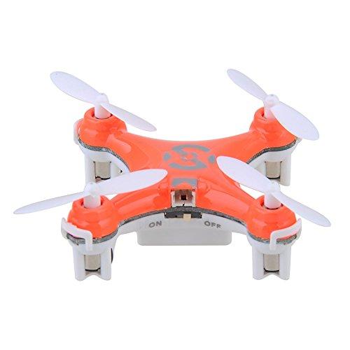 Haibei-Cheerson-CX-10-24-GHz-4-Kanal-6-Achs-Gyro-Super-Mini-RC-Quadcopter-UFO-Drone-RTF-mit-LED-Lichter-Top-Orange