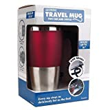 Excalibur 494-SR 16oz Electronic Travel Cup Warmer w/USB Charger (Silver/Red) - Keep your Drink Deliciously Hot!