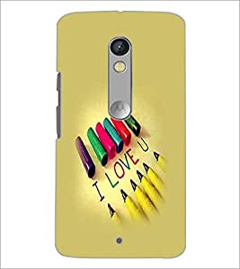 PrintDhaba I Love You D-1225 Back Case Cover for MOTOROLA MOTO X PLAY (Multi-Coloured)
