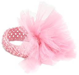 Mud Pie Newborn Baby-Girls Tulle Puff Headband, Pink, 0-12 Months