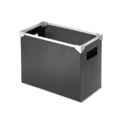 Pendaflex Poly Desktop File Box, Letter Size, Silver and Black (01151)