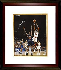 Hakeem Olajuwon signed Houston Rockets 16X20 Photo Custom Framed- JSA Hologram by Athlon Sports Collectibles