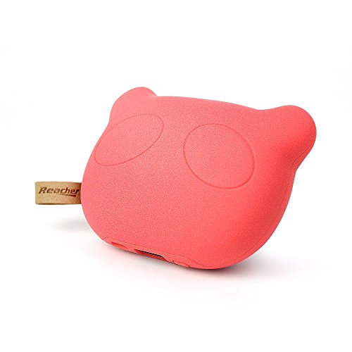 Reacher Panda - S36 5200mAh Cute Mini Portable Charger ( External Battery Power Bank ) Pack Backup (Red) (Fan Pull Panda compare prices)