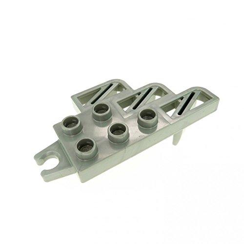 1 x Lego Duplo Anhänger Pflug perl silber grau