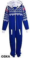 Kids Unisex Aztec Print Zip Up Onesie Hooded Jumpsuit Sleep Wear all in one Playsuit