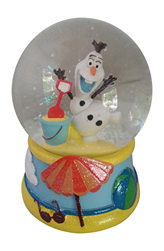 Disney Frozen Olaf Musical Snowglobe with Beach Summer Scene