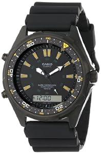 Casio Men's AMW360B-1A1 Black Analog Multi-Function Watch