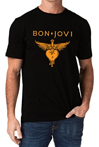 Bon Jovi Band Heart Logo Jon Mens T-Shirt