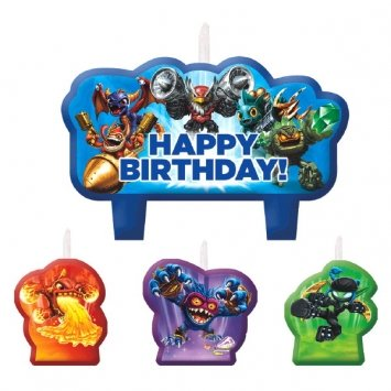 Skylanders Birthday Candle Set-2Pack