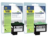 2 Compatible Printer Ink Cartridges To Replace Lexmark 17 / 27 - Black / Colour- For use with Compaq IJ650 IJ652 Lexmark i3 X1100 X1110 X1130 X1140 X1150 X1155 X1160 X1170 X1180 X1185 X1190 X1240 X1250 X1270 X1290 X2230 X2240 X2250 X72 X74 X75 Z13 Z23e Z