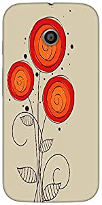 Snoogg abstract floral backgroundHard Back Case Cover Shield For For Motorola E 2nd Generation / Moto E 2nd
