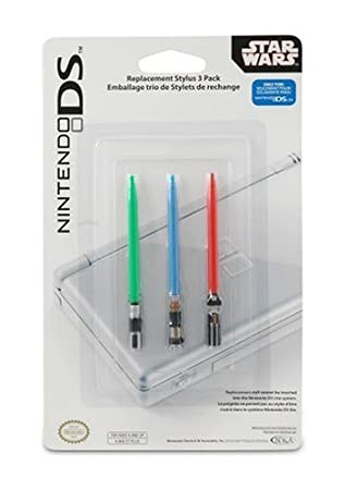 Nintendo DS Star Wars Lightsaber Stylus 3 Pack