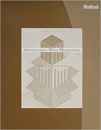 Administrative Office Management Workbook written by Pattie Gibson