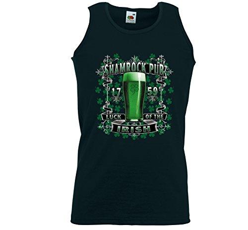 Irish Pub canottiera sportiva da uomo Shamrock Pub tecmil bevitore di Birra Guinness nero XXL