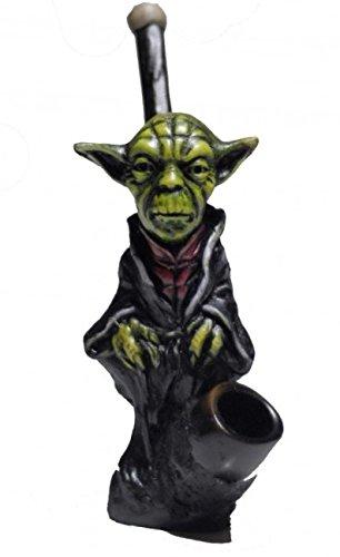 JCUNIVERSAL® - Handmade Tobacco Smoking Pipe Yoda Full Body Design (Yoda Bowl)