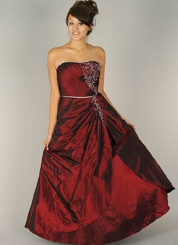 Strapless Floor Length Formal Gown