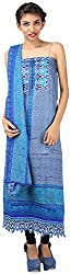 Hardy's Style Women's Cotton Dress Material (HS-56, Blue)