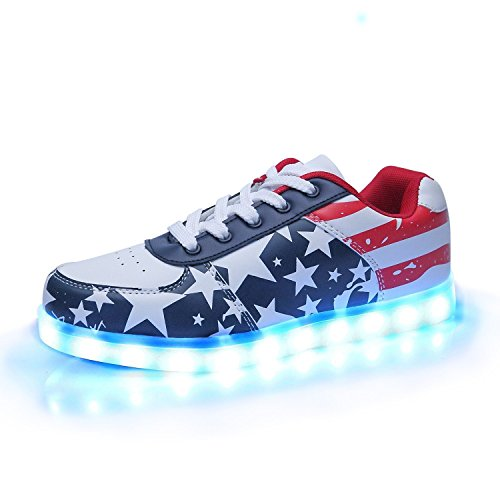 iTURBOS-AmericanaCotton-Hover-Light-Up-Shoes-Light-Up-LED-Shoes-for-Women-7-Static-3-Dynamic-Color-Modes-1-Strobe-Mode-Trendy-Rechargeable-LED-Sneakers-Charger-Included