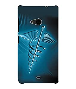 Fuson 3D Printed Doctor Logo Designer Back Case Cover for Microsoft Lumia 535 - D939