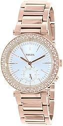 Fossil Women's ES3851 Urban Traveler Multifunction Stainless Steel Watch - Rose