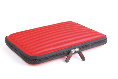DURAGADGET Red Shock And Water Resistant Memory Foam Case For 10.1 Inch Tablets Including Hannspree Tablet PC SN97T41W, TrekStor SurfTab ventos 10.1, TrekStor SurfTab Xiron 10.1, Kurio 10S, Polaroid MID4Q10, Polaroid MIDCD10 from Electronic-Readers.com