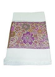 Maira Women's Pashmina Shawls & Stoles White Colour