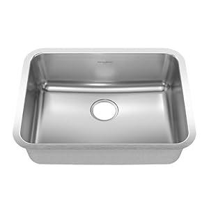 American Standard 20SB.251900.290 Prevoir 24.75-Inch Stainless Steel Undermount Single-Bowl Kitchen Sink, Brushed Satin