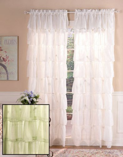 Romantic Bohemian Curtains In Sage 60Inx63In Length [2 Panels] front-1040496