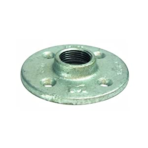 B k floor flange galvanized 1 2 fip home for 1 inch galvanized floor flange