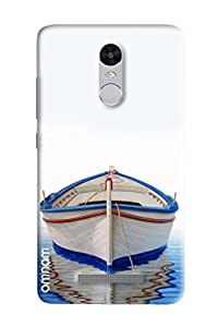 Omnam Boat Painted In Water With Shadow Designer Back Cover Case For Xiaomi Redmi Note 3