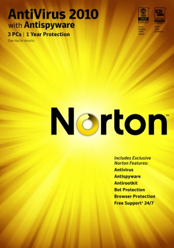 Norton Antivirus 2010 1 User / 3 PC [Download]