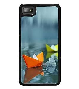 Colourful Paper Boats 2D Hard Polycarbonate Designer Back Case Cover for BlackBerry Z10