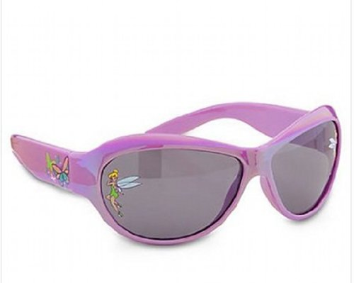 Disney Tinkerbell Sunglasses for Girls,TinkerBell on Corners,purple,butterflies