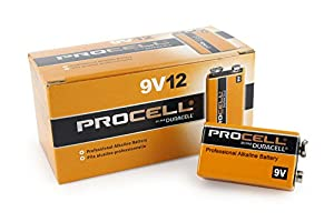 DURACELL 9 Volt  PROCELL Professional Alkaline Battery, Pack of 12